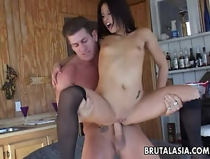Asian,Anal Gorgeous brunette has a fuck with her...