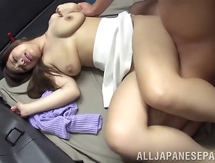 Couple,Hardcore,Reality,Asian,Japanese,Long Hair,Car Fucking Wild reality action where a Japanese...