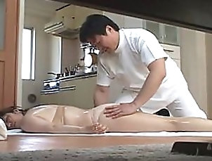 Massage,Asian,Japanese,Couple Cock-Hungry Asian MILF Gets Massaged...