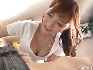 Couple,Hardcore,Asian,Japanese,Reality Masseuse gives a rimjob and HJ to her...