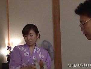 Mature,Asian,Japanese Mature Japanese MILF uses her wisdom...