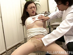 Big Tits,Natural Tits,Hardcore,Couple,Asian,Japanese,Glasses,Wife,Bra,Pantyhose,Nylon,Reality Captivating wife in pantyhose yelling...