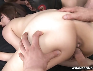 Gangbang,Hardcore,Japanese,Blowjob Gimps giving it to her as her pussy...