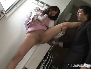 Couple,Hardcore,Asian,Japanese,Toys,Pantyhose,Nylon,Reality Her co-worker spreads her legs and...