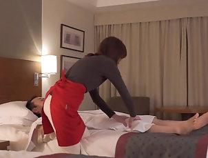 Asian,Japanese Subtitled CFNM Japanese hotel milf...