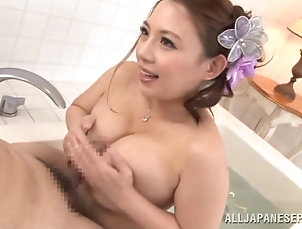 Couple,Hardcore,Asian,Japanese,Natural Tits,Big Tits,Bath Bathing with a big breasted Japanese...