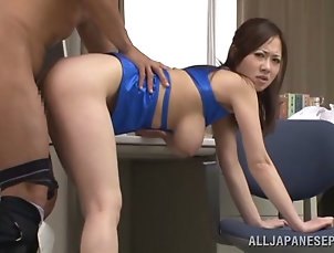 Couple,Hardcore,Asian,Japanese,Licking,Big Tits,Natural Tits,Brunettes Busty Sayuki Kanno gets fucked in all...