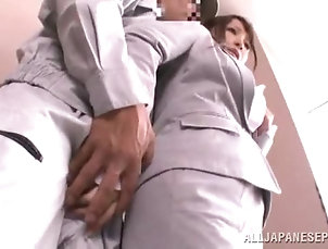 Amateur,Asian,Brunettes,Clothed Sex,Couple,Hardcore,Japanese Horny Japanese manager gets nailed...