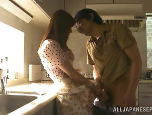 Japanese,Asian,MILF,Cougars,Wife,Kitchen,Hardcore Hot head in the kitchen from the...