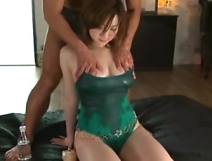 Threesome,Hardcore,MMF,Japanese,Wet T-shirt Juicy pussy getting fingered while...