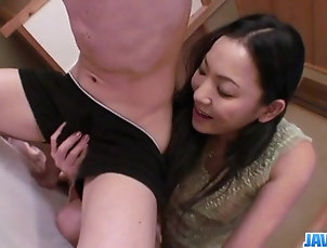 Asian,Japanese Kaori Akitsu sucks cock and fucks...