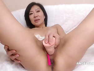 Asian Fucking My Inviting Cooter With A Big...