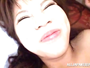 Amateur,Asian,Couple,Hairy,Hardcore,Japanese,Long Hair Japanese chick sucks a dick and gets...