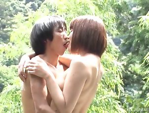 Couple,Japanese,Outdoor,Pool,Small Tits Japanese hottie gets her boobs...