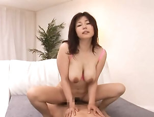 Amateur,Asian,Big Tits,Cumshot,Facial,Hairy,Hardcore,Japanese,Natural Tits,Threesome Horny Asian Milf Gets Creamed In A...