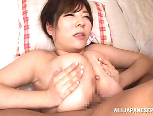 Couple,Hardcore,Asian,Japanese,Big Tits,Natural Tits,MILF Busty Asian milf with big tits giving...