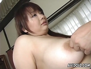 Asian,Japanese Asian busty bitch gets her hairy muff...