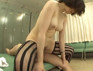 Couple,Hardcore,Asian,Japanese,Brunettes,Stockings,Natural Tits,Amateur Nade Tomoseka gets her snatch toyed...