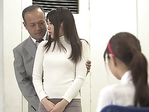 Couple,Asian,Japanese,Reality,Office,Toys Japanese brunette cutie ravished by a...