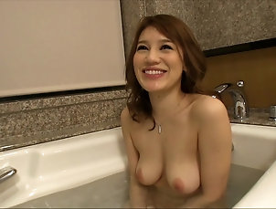 Solo Models,Asian,Japanese,Natural Tits,Bath,Masturbation Babe in a tub fingers her pussy for a...
