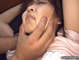 Pussy,Close Up,Japanese Bound and blindfolded Asian got toyed...