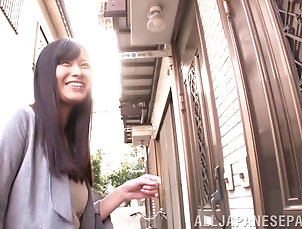 Couple,Hardcore,Asian,Japanese,Reality,Long Hair Sweet looking Japanese girl tries all...