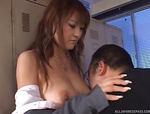 Couple,Hardcore,Asian,Japanese,Reality,Office,Natural Tits Sassy Asian office girl leans over as...