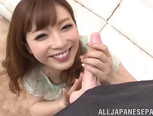 Couple,Hardcore,Asian,Japanese,Toys,Long Hair Rina Kato shows off her cock sucking...