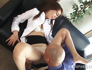 Asian,Japanese,Office,Reality An Asian office chick gets her cunt...