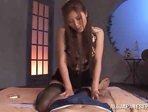 Asian,Couple,Hardcore,Japanese,Nice Ass,Doggystyle,Stockings,Long Hair,Nylon,Orgasm Adorable Asian Babe Goes Really...