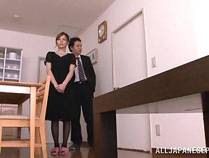 Asian,Japanese,Small Tits,Couple,Hardcore,Stockings,Nylon Lovely Japanese cowgirl in nylon...