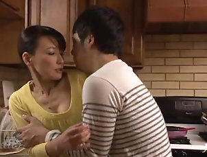 Asian,Brunettes,Cougars,Couple,Hardcore,Japanese,Kitchen,MILF,Wife Gorgeous Mature Japanese Giving an...