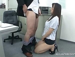 Couple,Hardcore,Asian,Japanese,Nice Ass,Office,Reality Lustful secretary in high heels sucks...