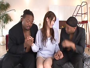 Couple,Hardcore,Asian,Japanese,Compilations,Interracial,Long Hair Asian with a foot fetish submits to a...