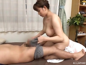 Couple,Japanese,Natural Tits Busty Mishima Natsuko rides a long...