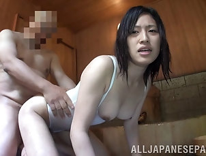 Couple,Hardcore,Asian,Japanese,Doggystyle,Orgasm Chikusa Matsuy looks hot in lingerie...