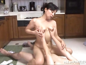 Asian,Cougars,Couple,Cowgirl,Hardcore,Japanese,Kitchen,MILF,Natural Tits,Reality,Wife Desirable milf is having some wild...