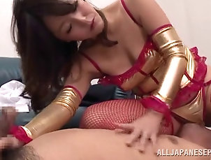 Asian,Couple,Hardcore,Japanese,MILF,Cougars,Lingerie Randy Japanese in lingerie plays with...