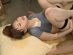 Couple,Hardcore,Asian,Japanese,Compilations She works up a sweat in yoga then...