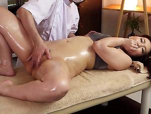 HD,Couple,Hardcore,Asian,Japanese,Oiled,Massage,Panties,Bra Hot Japanese milf on the massage...