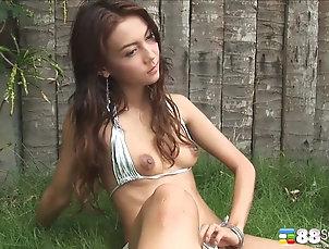 HD,Solo Models,Outdoor,Asian,Long Hair,Natural Tits,Bikini Sensual Vicky goes as wild and...