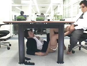 Asian,Foot Fetish,Hardcore,Japanese,Lingerie,Nylon,Office,Pantyhose,Reality Japanese secretary gets naughty with...