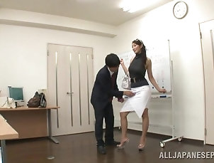 Amateur,Asian,Big Tits,Gangbang,Hardcore,Japanese,Long Hair,Toys,Vibrator Training in office ends up with a...