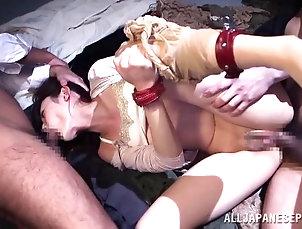 Hardcore,Asian,Japanese,Pantyhose,Nylon Kanako Iioka gets tied up in bondage...