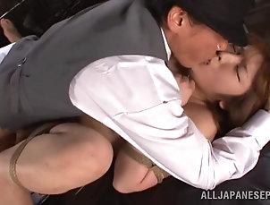 BDSM,Bondage,Slave Japanese BDSM with ropes and nipple...