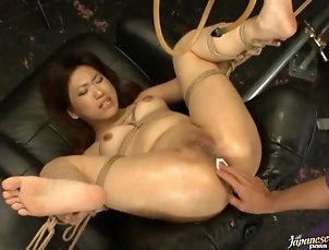 BDSM,Bondage,Torture Dildo Fuck For Bondaged Asian