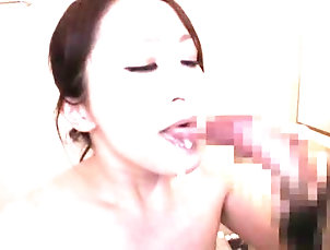 Amateur,Asian,Brunettes,Couple,Cum In Mouth,Cumshot,Hardcore,Japanese,MILF Horny Japanese milf blows and gets...