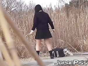Asian;Hairy;Hidden Camera;Teen;Voyeur;HD Videos;Outdoor;Pissing Japanese schoolgirls stopped to take...