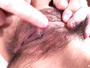 Close Up,Pussy,Hairy,Japanese Asian chick wants to pleasure a...