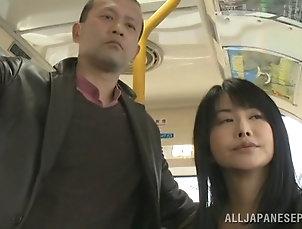 Japanese,Asian,MILF,Cougars,Hardcore,Bus,Public,Reality Luscious Japanese MILF gives handjob...